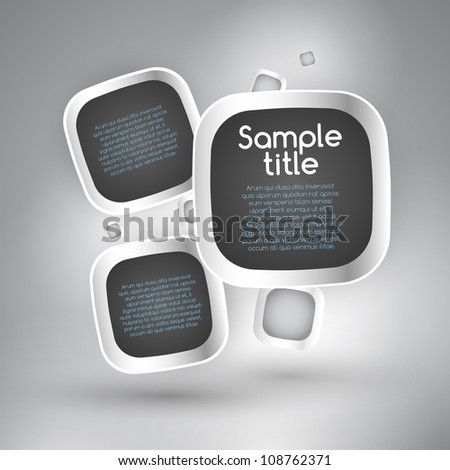 Speech bubbles background - stock vector