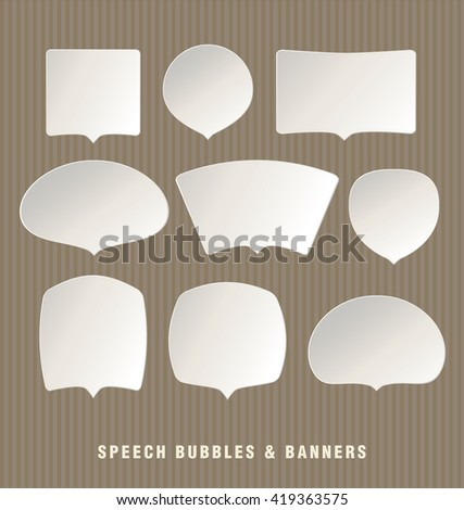 Speech Bubbles & Banners