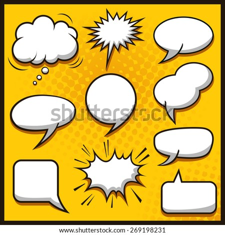 Speech Bubbles Collection - stock vector