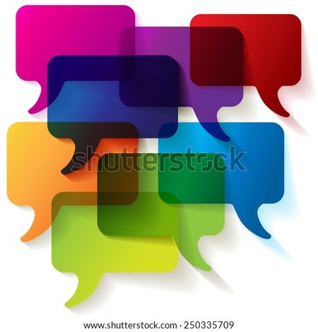 Speech bubbles colorful