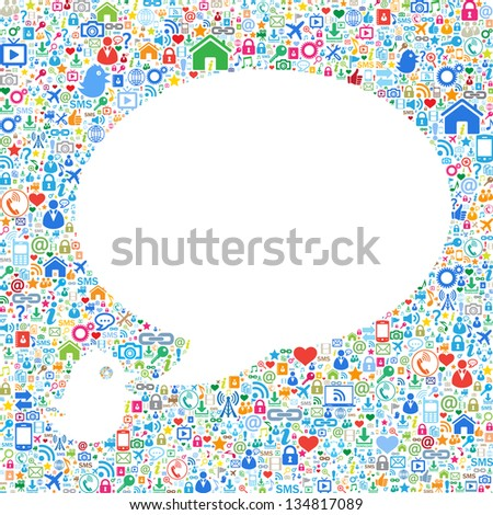 Speech bubbles,communication concept - stock vector