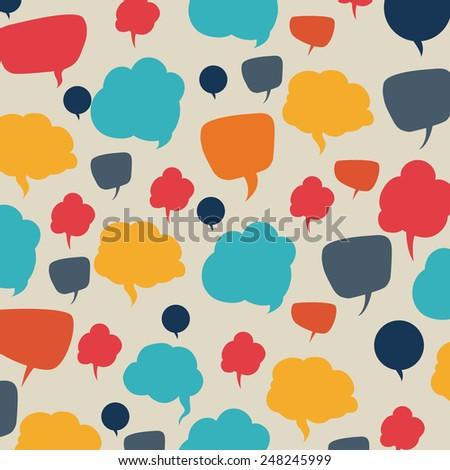 speech bubbles communication design, vector illustration eps10 graphic  - stock vector
