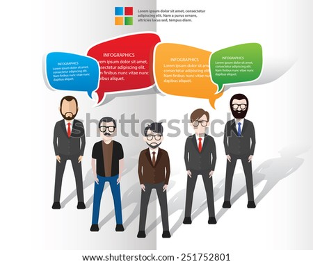 Speech bubbles design on white background,clean vector - stock vector