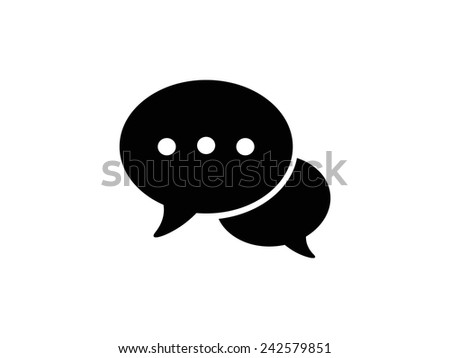 Speech bubbles, icon - stock vector