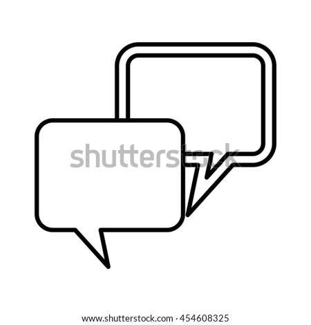 speech bubbles icon, isolated lineal vector illustration