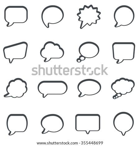 Speech bubbles icon set - stock vector