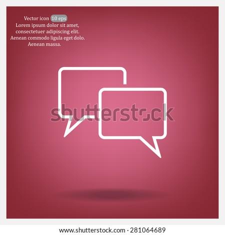 Speech bubbles icon. vector illustration - stock vector