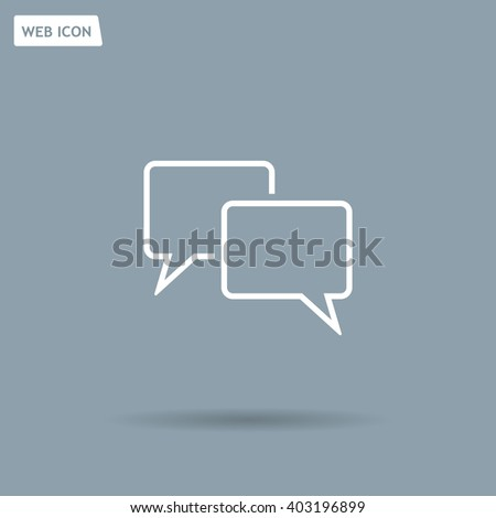 Speech bubbles icon. vector illustration