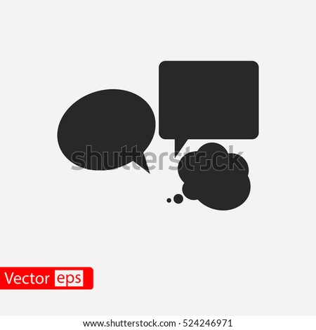 Speech bubbles  icon, vector illustration. Flat design style