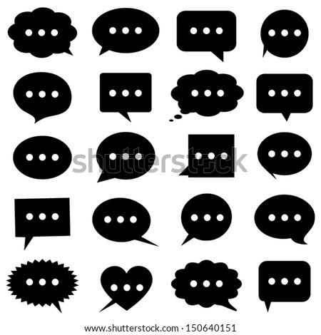 Speech bubbles icons - stock vector