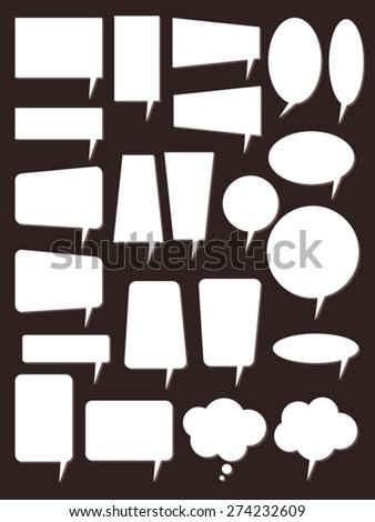 Speech bubbles - Illustration. Bubbles round and square shapes.
