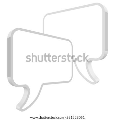 speech bubbles in perspective white - stock vector