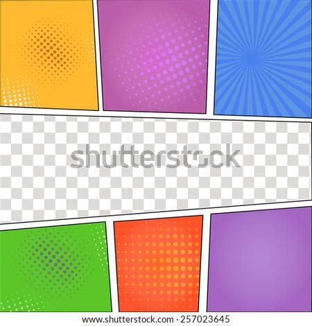 Speech Bubbles in Pop-Art Style background vector - stock vector