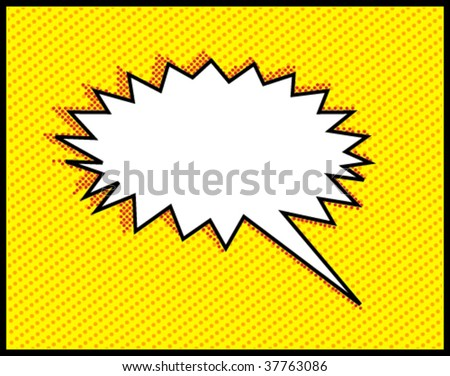 Speech bubbles on halftone pattern - stock vector