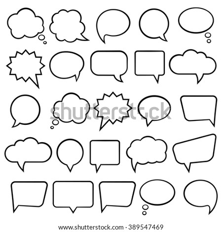 Speech Bubbles or Thought Bubbles for infographics - Illustration - stock vector