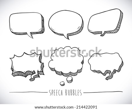 speech bubbles over white background vector illustration - stock vector