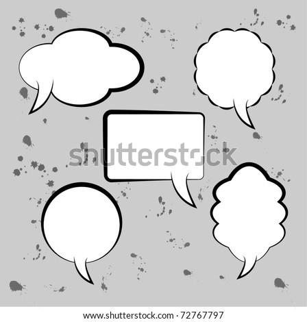 Speech bubbles - template - stock vector