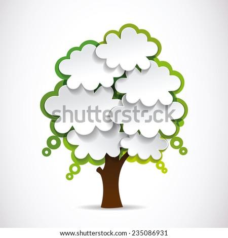 Speech bubbles tree vector sets - stock vector