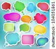 Speech bubbles, vector - stock vector