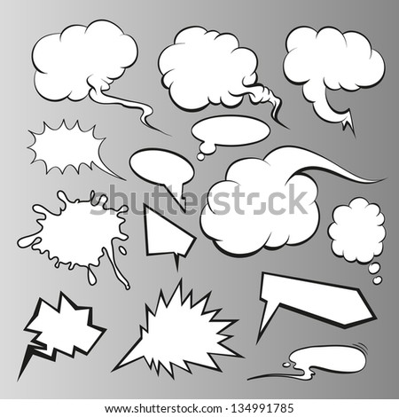 Speech bubbles vector comic book
