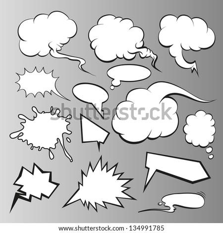 Speech bubbles vector comic book - stock vector