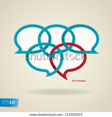 Speech bubbles, vector Eps10 illustration. - stock vector