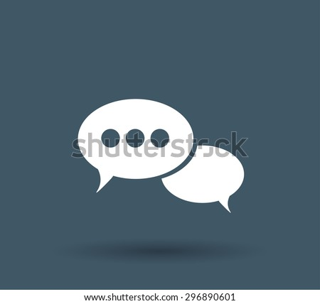 Speech bubbles, vector icon - stock vector