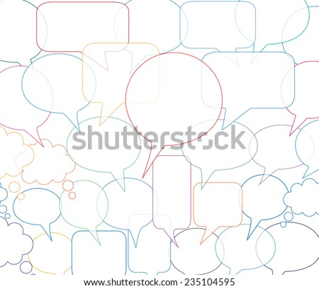 Speech bubbles vector sets
