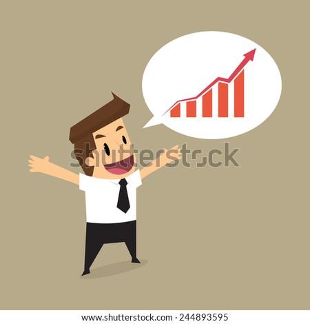 Speech bubbles with businessman.vector - stock vector