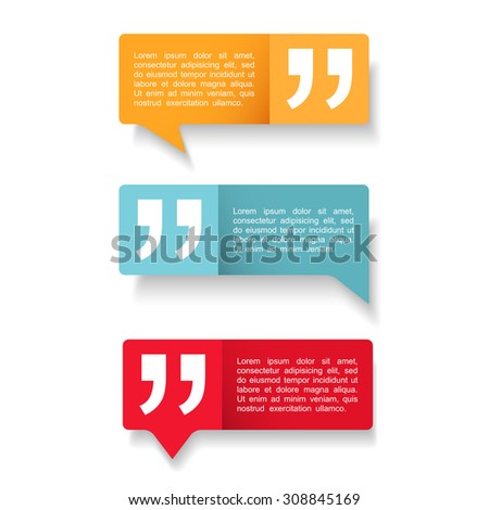 Speech Bubbles with quotes icon, vector eps10 illustration - stock vector