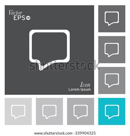 Speech buble icon - vector, illustration. - stock vector