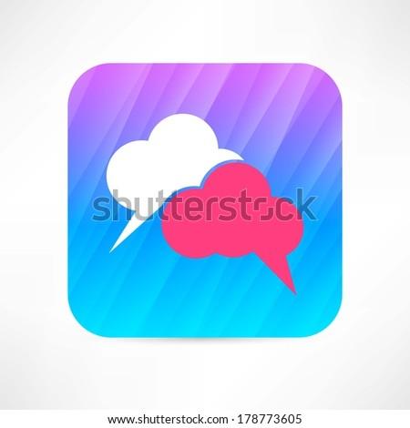 speech cloud icon - stock vector