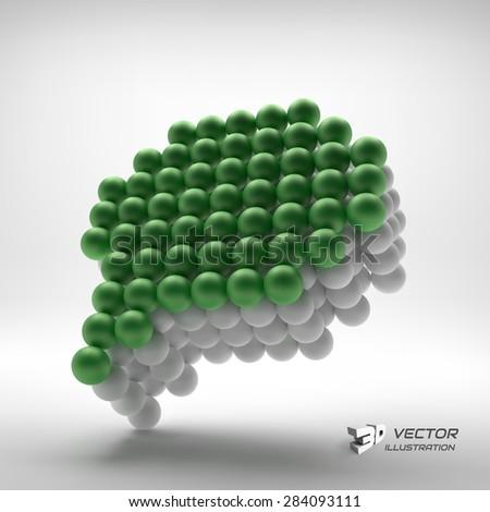 Speech icon. Design element. 3d vector illustration. - stock vector