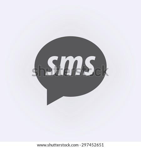 Speech SMS bubble icon - stock vector