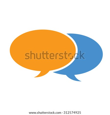 Speech Talk social media balloon icon symbol - stock vector