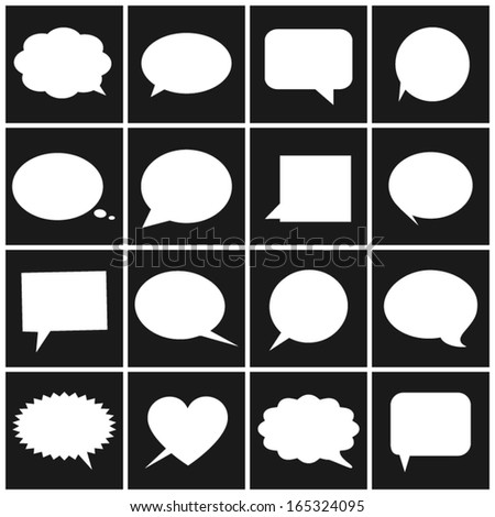 Speech/thought bubbles. - stock vector