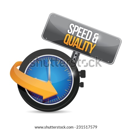 speed and quality time illustration design over a white background - stock vector