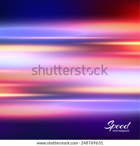 Speed colorful background. Aurora borealis. Colored lines. Vector eps10. - stock vector