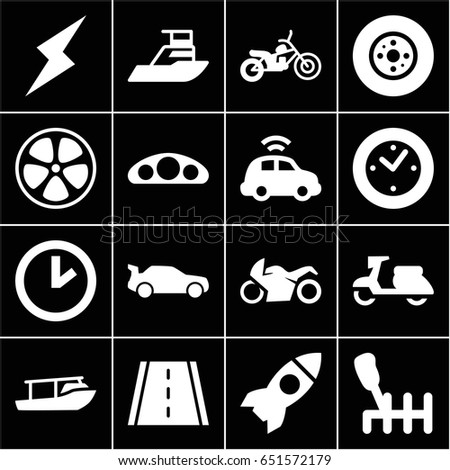 Set  Speed Filled Icons Such Stock Vector  Shutterstock - Car image sign of dashboard