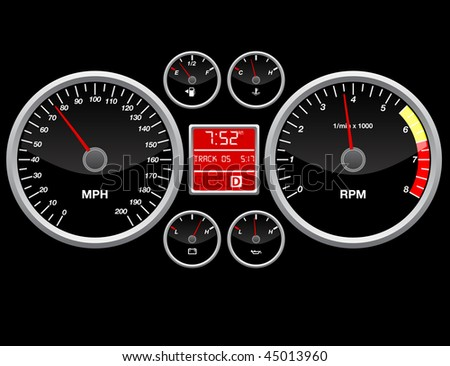 Speed indicator - stock vector