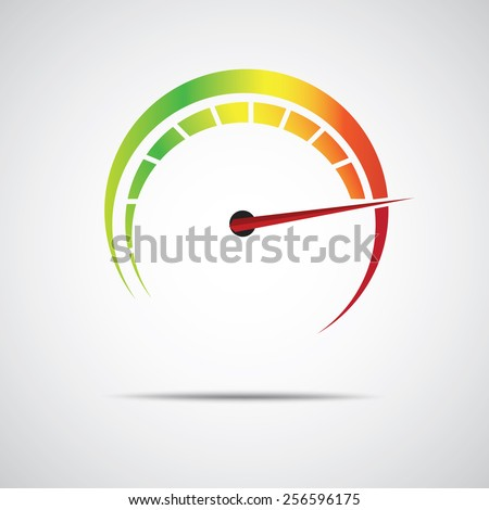 speed meter icon - stock vector