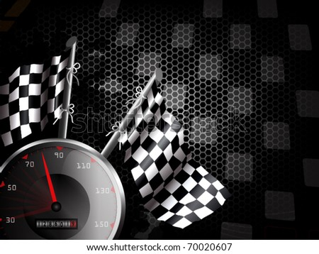 Speed racing background with space for text