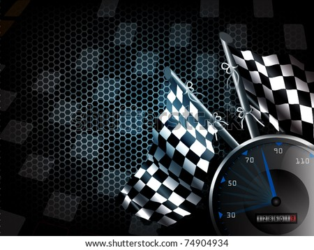 Speed racing background with space for text - stock vector