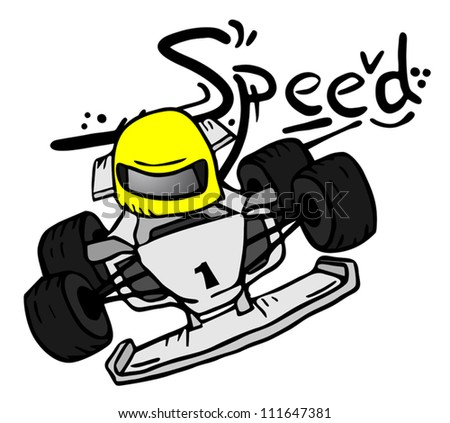 Speed racing car - stock vector