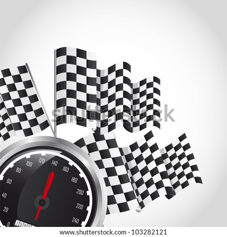 speed racing over gray background. vector illustration