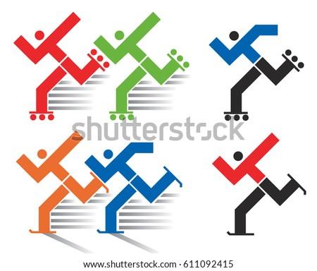 Speed skating symbol