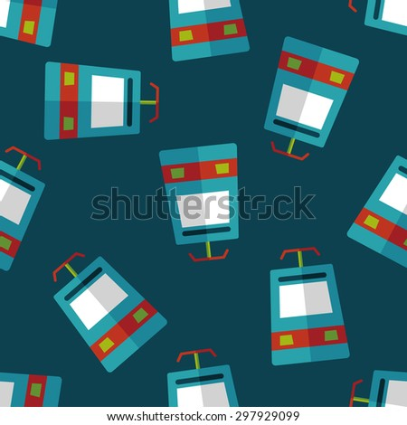 speed train flat icon seamless pattern background - stock vector