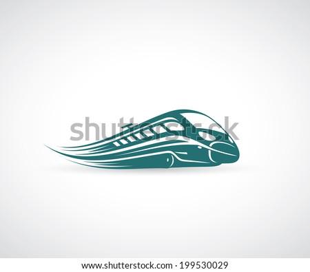 Speed train - vector illustration - stock vector
