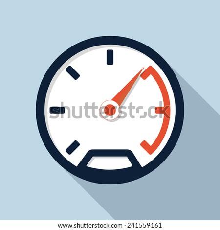 Speedometer flat icon - stock vector