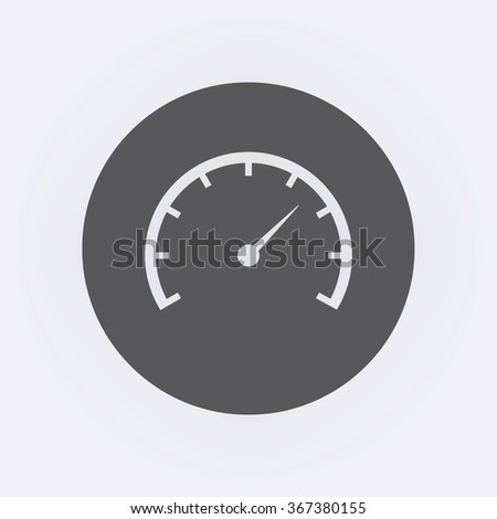 Speedometer Icon in circle . Vector illustration - stock vector